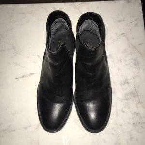 Topshop Black Leather Ankle Booties US 7 EU 37